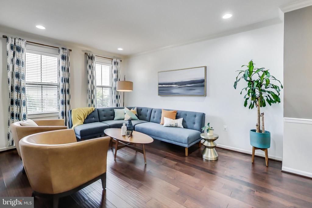 Inviting living room - 23636 SAILFISH SQ, BRAMBLETON