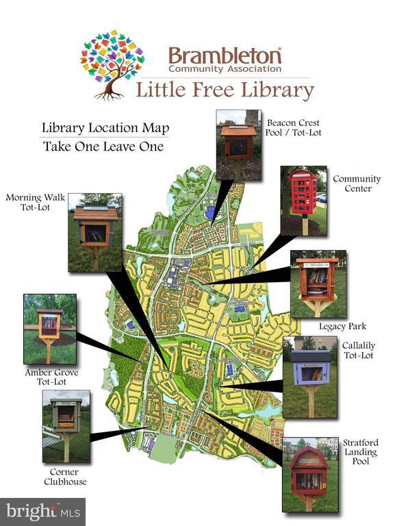Brambleton offers 8 Little Free Libraries! - 23636 SAILFISH SQ, BRAMBLETON