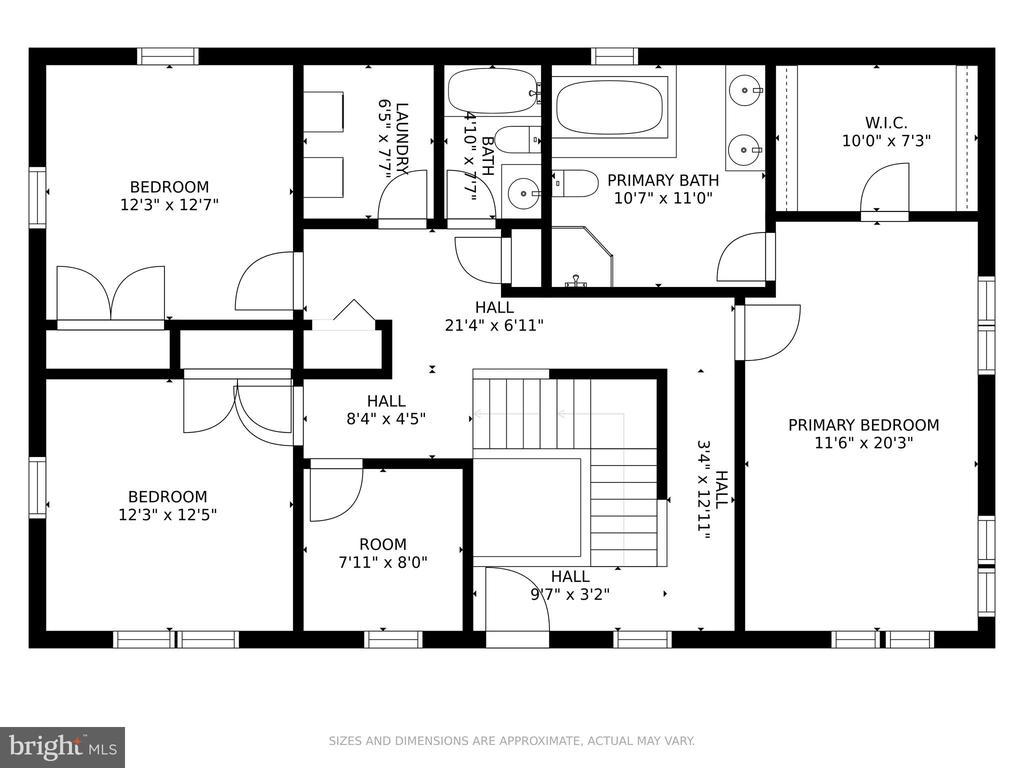 Second Floor Plan - 5609 S QUAKER LN, ALEXANDRIA