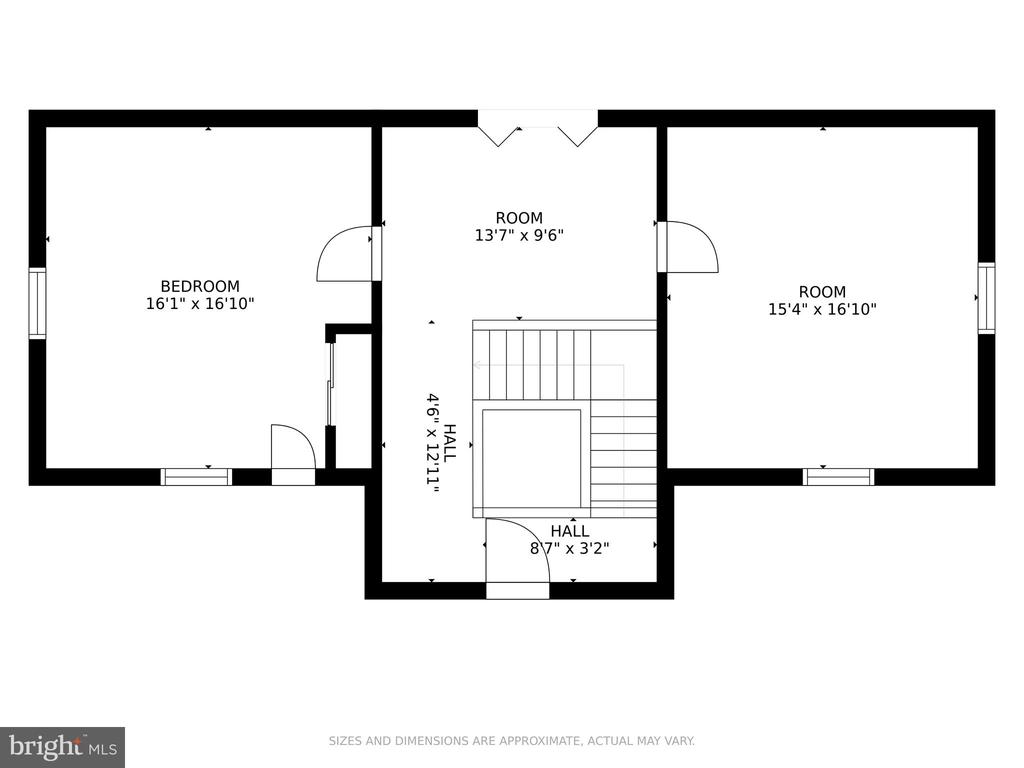 Third Floor Plan - 5609 S QUAKER LN, ALEXANDRIA