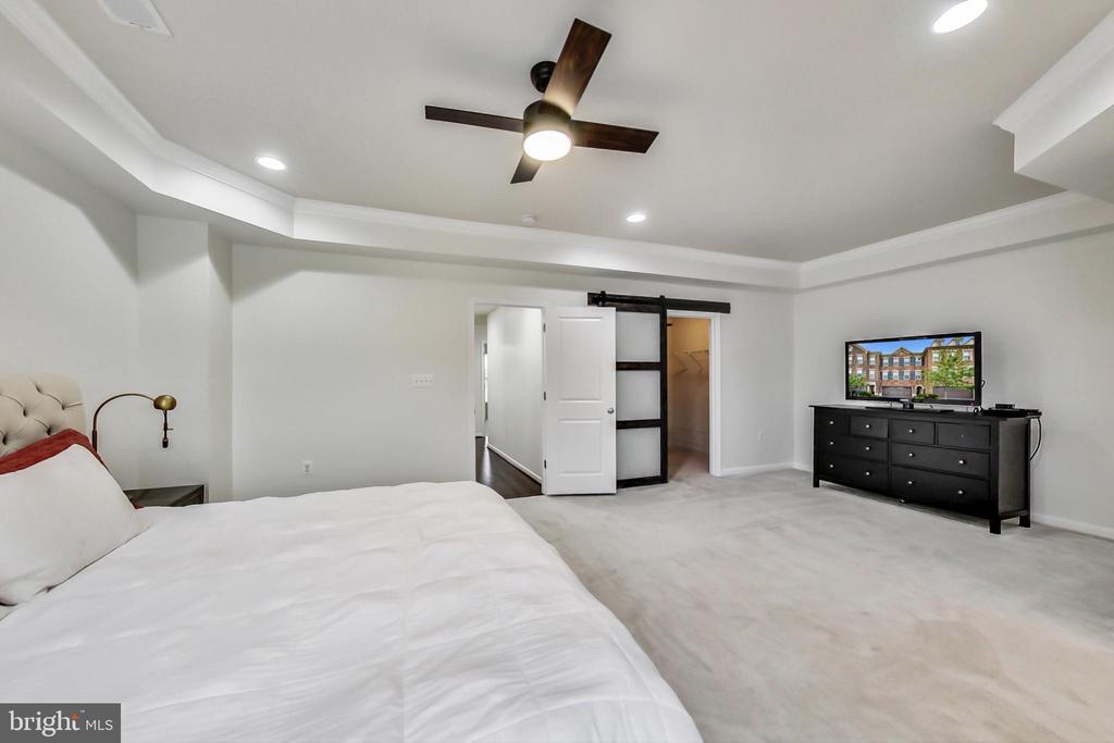 Owner's Walk-in Closet with beautiful barn doors - 23636 SAILFISH SQ, BRAMBLETON