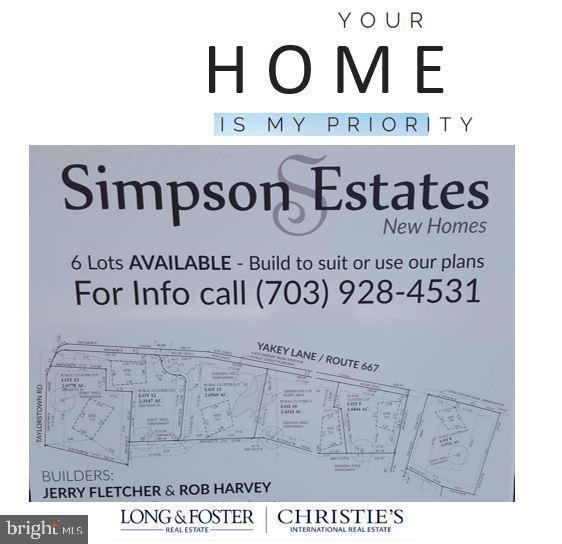 Simpson Estate -Enclave of 6 lots - 12107 PETEY LN, LOVETTSVILLE