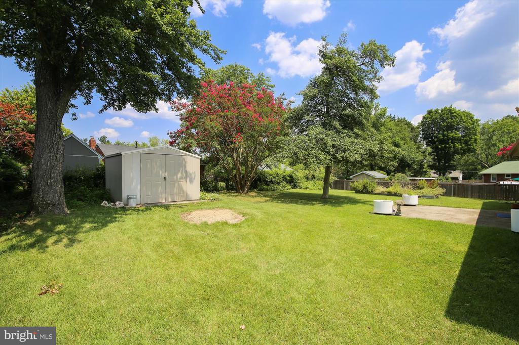 Backyard w/Storage Shed - 6204 EVERGLADES DR, ALEXANDRIA