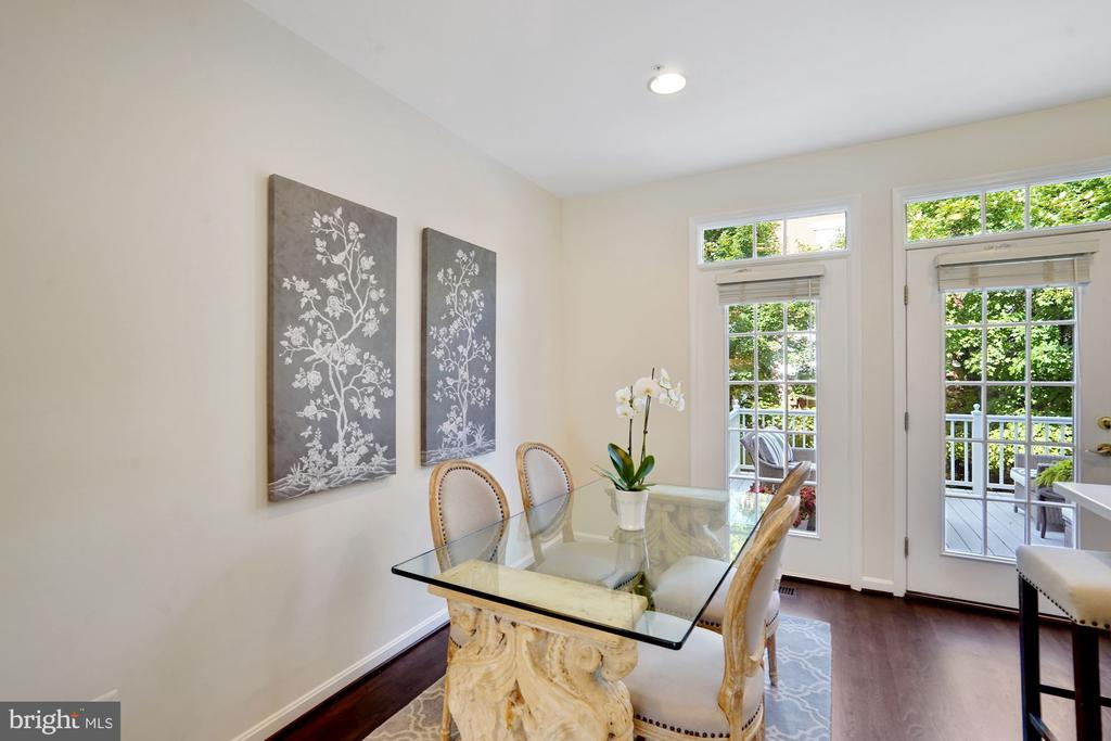 Breakfast Room/Dining Room with SO MUCH LIGHT! - 12079 CHANCERY STATION CIR, RESTON