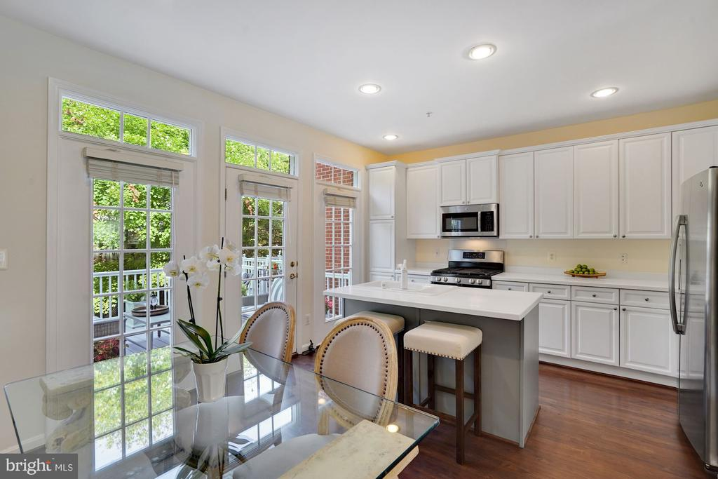 The Bright Freshly Painted White Cabinets - 12079 CHANCERY STATION CIR, RESTON