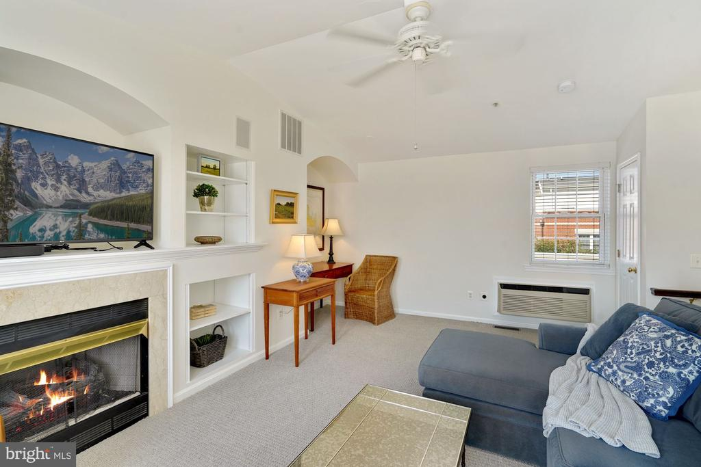 Fireplace and Built ins on the Loft Level - 12079 CHANCERY STATION CIR, RESTON