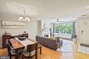 Living room / dining room- large open floor plan! - 11736 ROCKAWAY LN #101, FAIRFAX