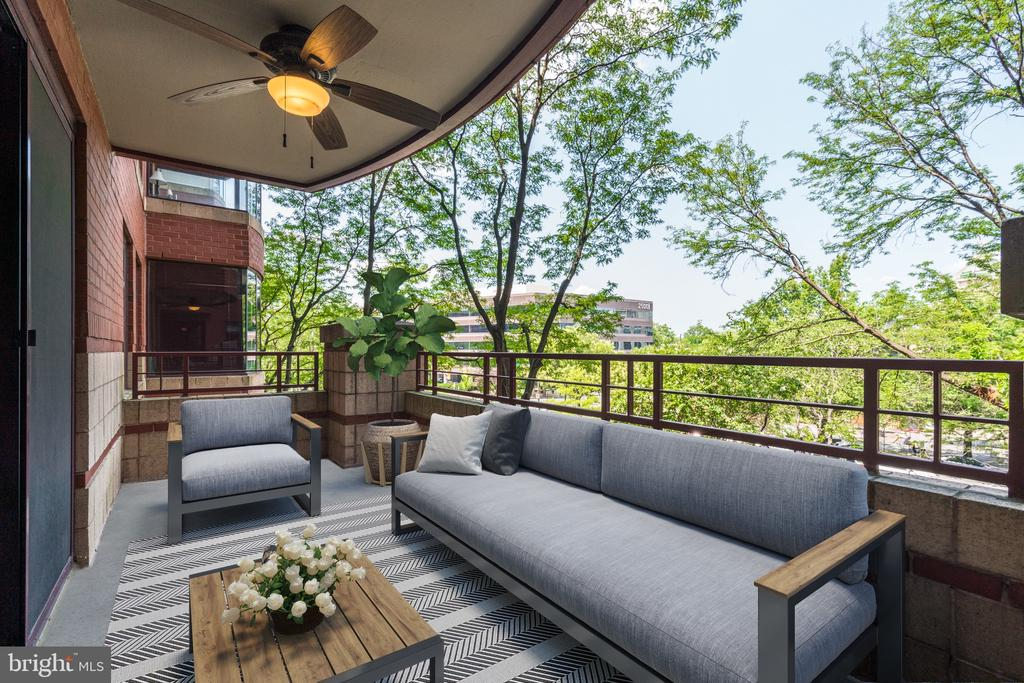 Large Private Balcony.  Great for Entertaining - 2400 CLARENDON BLVD #316, ARLINGTON