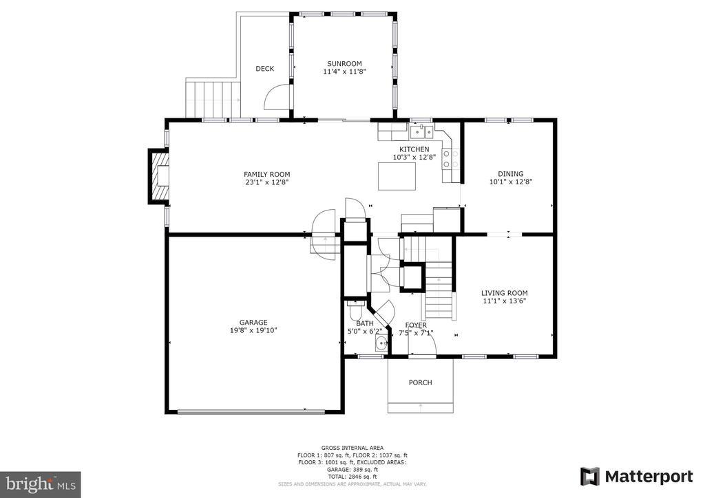 Main level floor plan - 15 SARRINGTON CT, STAFFORD