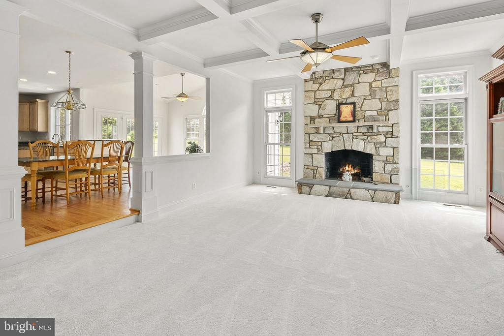 Coffered ceiling - 2792 MARSHALL LAKE DR, OAKTON