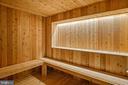 Natural Cedar sauna room - 1120 GUILFORD CT, MCLEAN