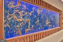 Natural Blue Onyx wall panel - 1120 GUILFORD CT, MCLEAN
