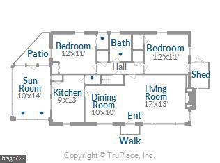 main level floor plan - 114 S BUCKMARSH ST, BERRYVILLE