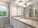 RENOVATED Primary Bath w/Tiled Shower - 1122 SPAIN DR, STAFFORD