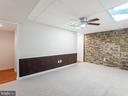 Rec Room w/Stacked Stone Wall - 1122 SPAIN DR, STAFFORD