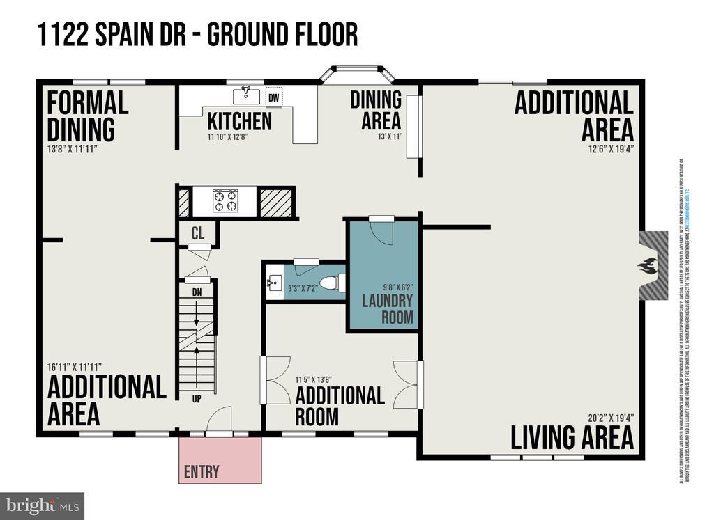 Main Level Floorplan - 1122 SPAIN DR, STAFFORD