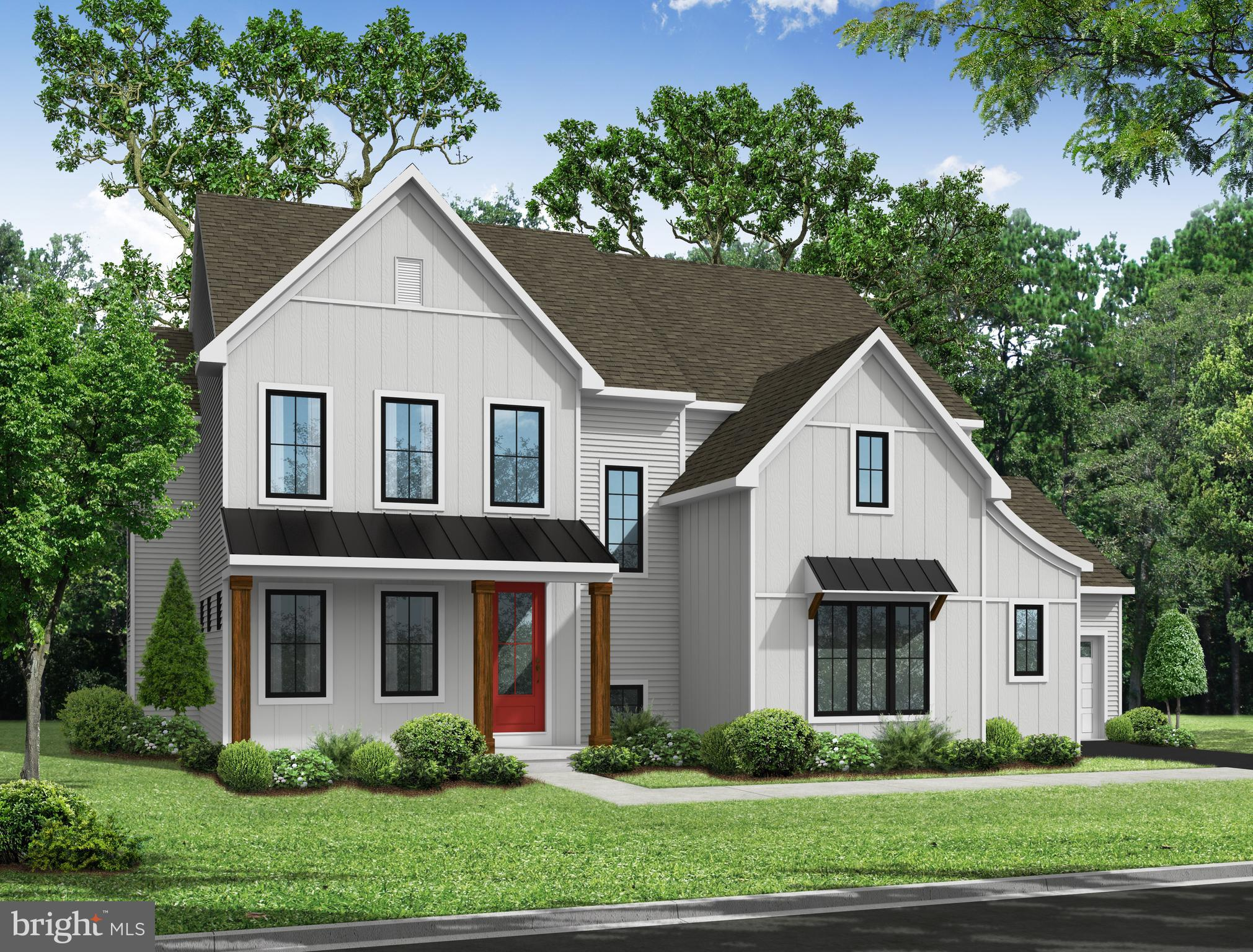 RENDERING of home while under construction.