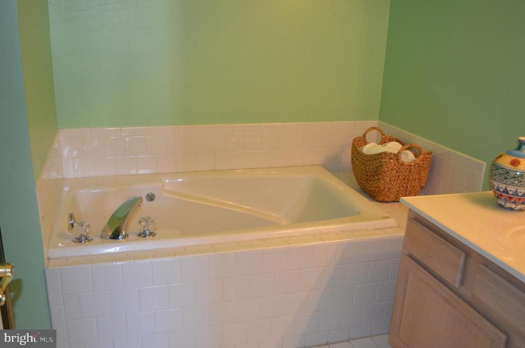 Beautiful soaking tub in master bath - 6505 SPRINGWATER CT #7401, FREDERICK