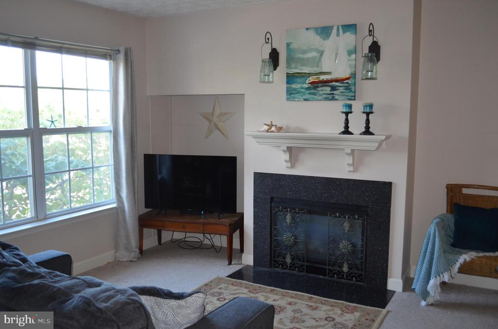 Gas fireplace in family room - 6505 SPRINGWATER CT #7401, FREDERICK