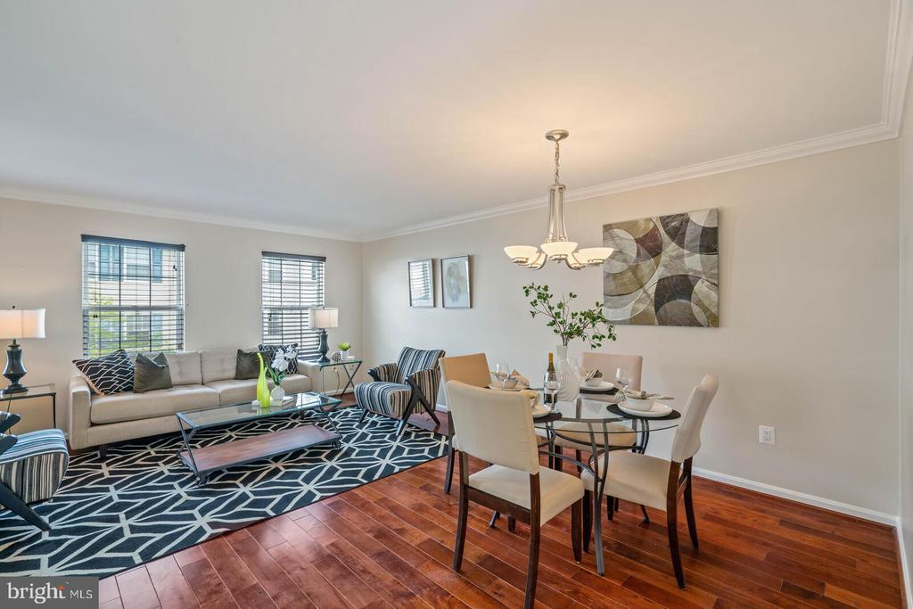 Living Room and Dining on Middle Level - 22916 REGENT TER, STERLING
