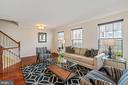 Spacious Living Room on Middle Level - 22916 REGENT TER, STERLING