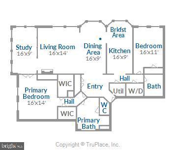 Floor Plan - 11776 STRATFORD HOUSE PL #407, RESTON