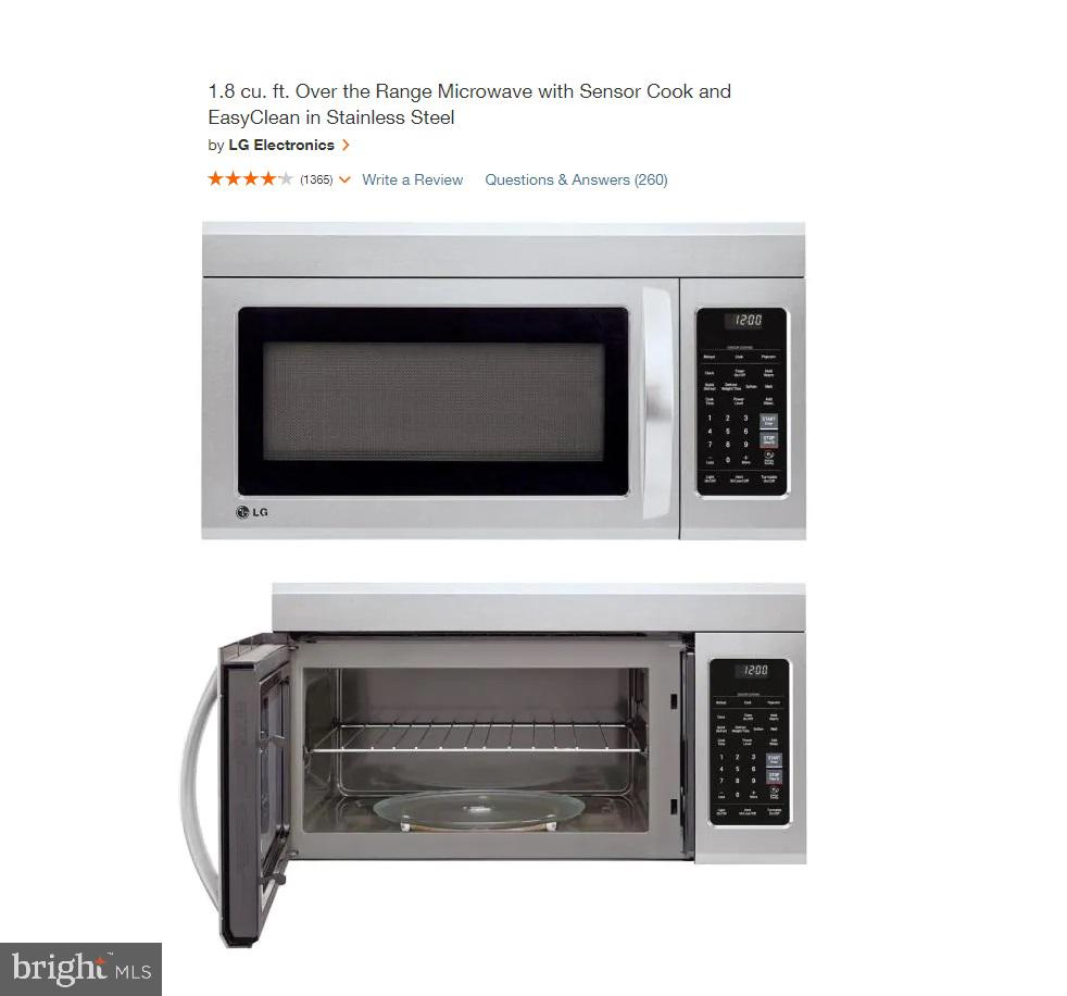 New Microwave - 108 HAMILTON RD, STERLING