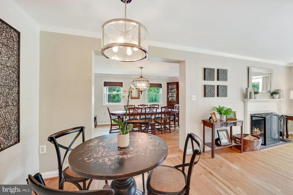 Living Room into Dining Room & Kitchen - 606 N OWEN ST, ALEXANDRIA