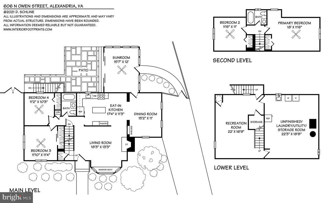 Floorplans - 606 N OWEN ST, ALEXANDRIA