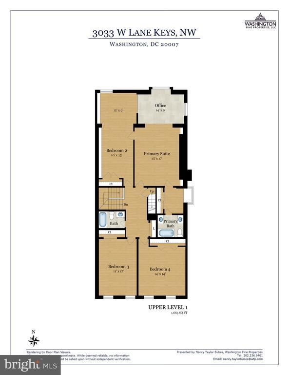 Upper Level 1 Floor Plan - 3033 WEST LANE KEYS NW, WASHINGTON