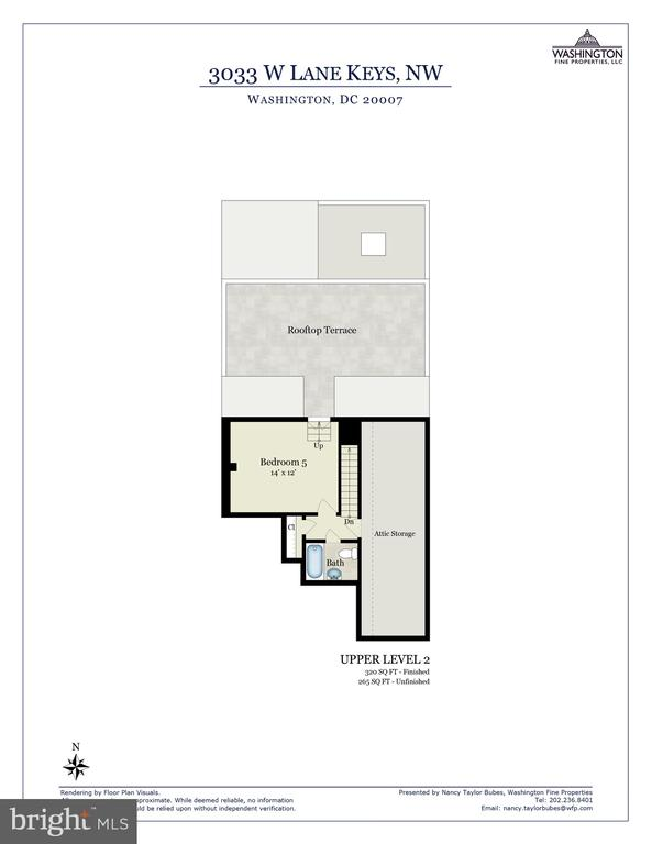 Upper Level 2 Floor Plan - 3033 WEST LANE KEYS NW, WASHINGTON