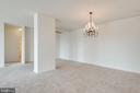 Open living/dining/library space - 19365 CYPRESS RIDGE TER #816, LEESBURG