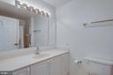 Primary bathroom with shower and bath/shower combo - 19365 CYPRESS RIDGE TER #816, LEESBURG