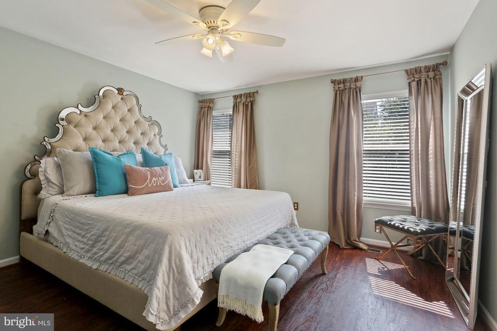 Primary Bedroom - Ceiling Fan & Light Fixture! - 6342 JAMES HARRIS WAY, CENTREVILLE