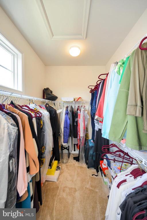 Walk in closet in PB, window & attic access panel. - 114 THRESHER LN #18, STAFFORD