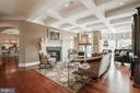Formal Living Room with Coffered Ceilings - 15830 SPYGLASS HILL LOOP, GAINESVILLE