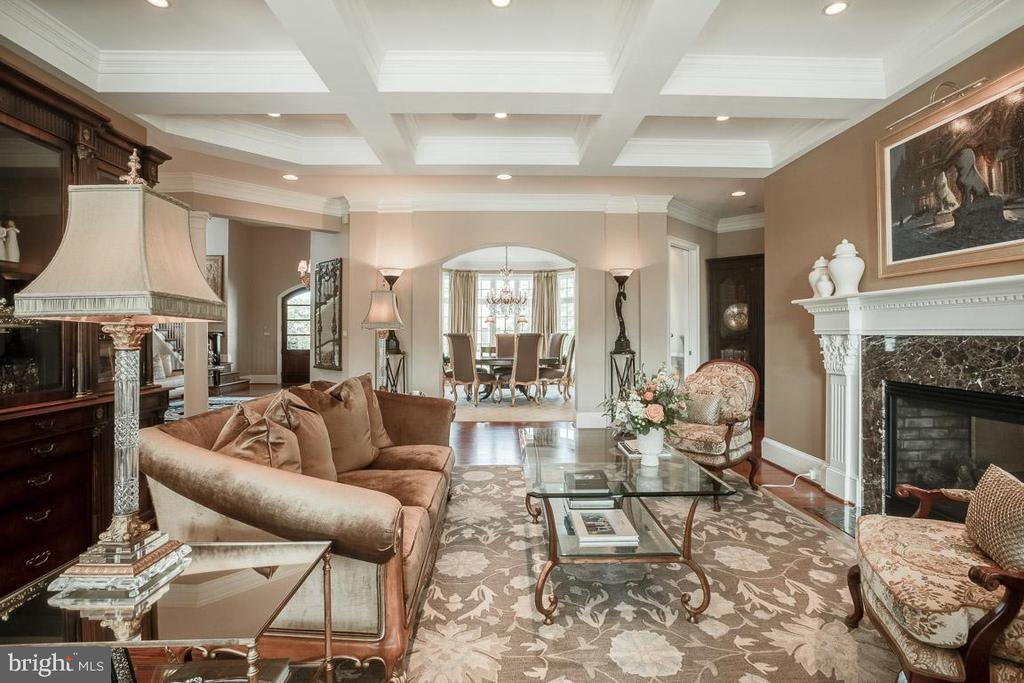 Formal Living Room with 2 Sided Gas Fireplace - 15830 SPYGLASS HILL LOOP, GAINESVILLE