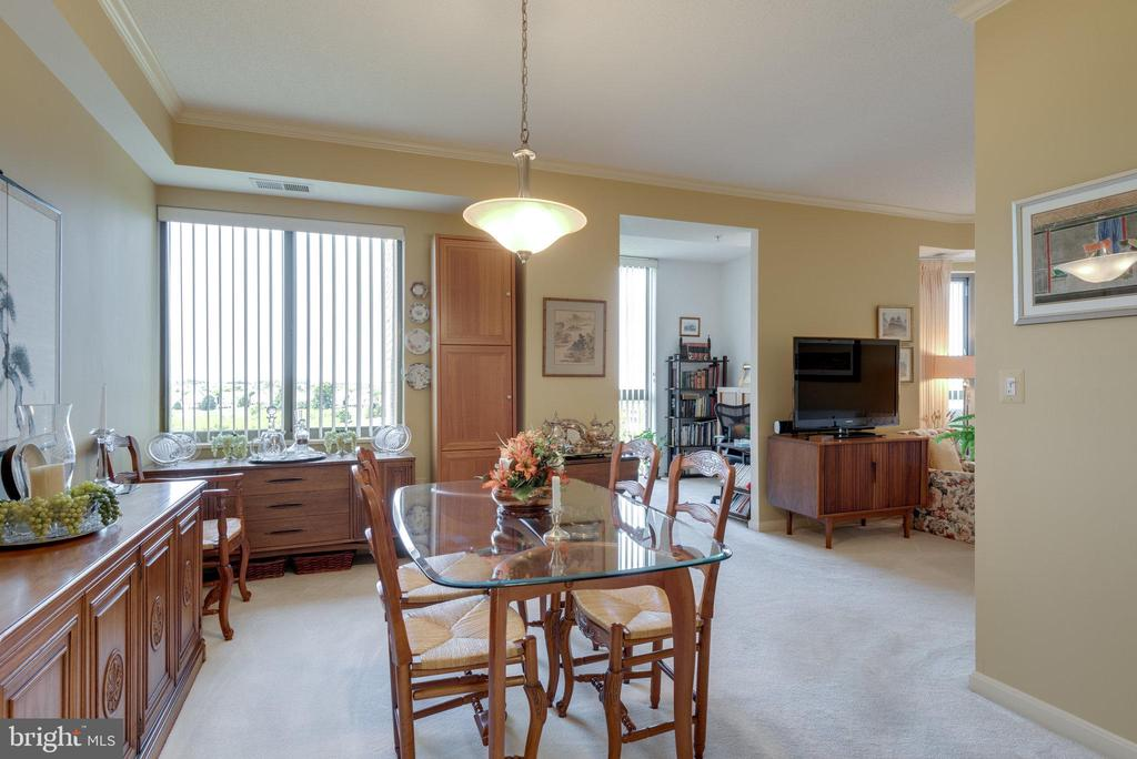 Dining area has great access to living room - 19365 CYPRESS RIDGE TER #1021, LEESBURG