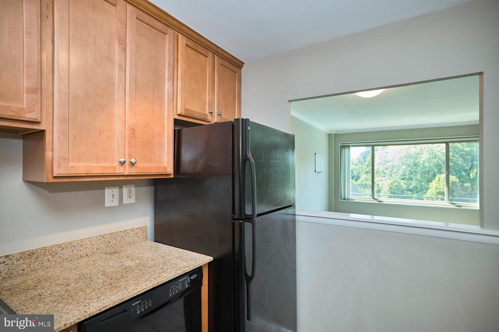 Kitchen View to Living/Dining Room - 10570 MAIN ST #517, FAIRFAX