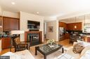 Family Room Open to Kitchen - 7804 ORCHARD GATE CT, BETHESDA