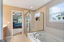 Luxury bath with stand alone shower & soaking tub - 2300 HARMSWORTH DR, DUMFRIES