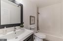 Renovated Upper-Level Hall Full Bath - 1406 POWELLS TAVERN PL, HERNDON