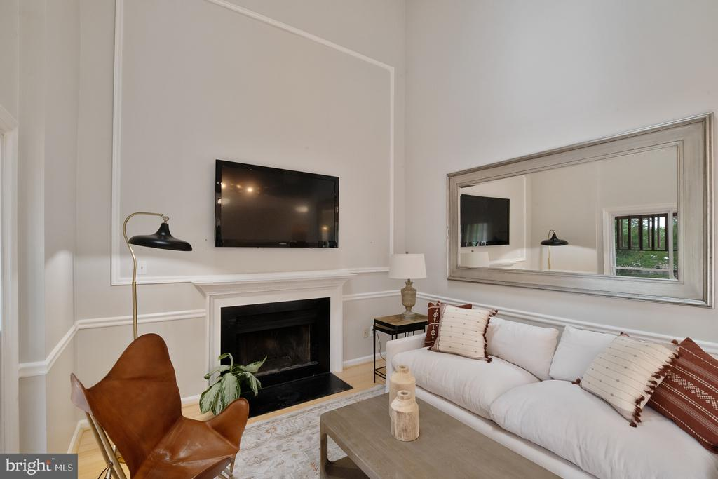Family Room with Vaulted Ceiling - 1406 POWELLS TAVERN PL, HERNDON