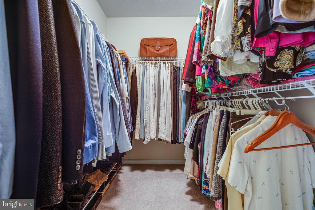 Huge walk-in closet in the primary bedroom - 8300 MUSKET RIDGE LN, FREDERICKSBURG