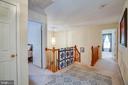Upper foyer and hallway - 8300 MUSKET RIDGE LN, FREDERICKSBURG