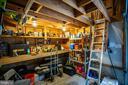Workshop w/ pull down stairs to attic storage - 8300 MUSKET RIDGE LN, FREDERICKSBURG