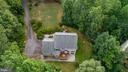 View from above - driveay & back, deck, patio - 8300 MUSKET RIDGE LN, FREDERICKSBURG