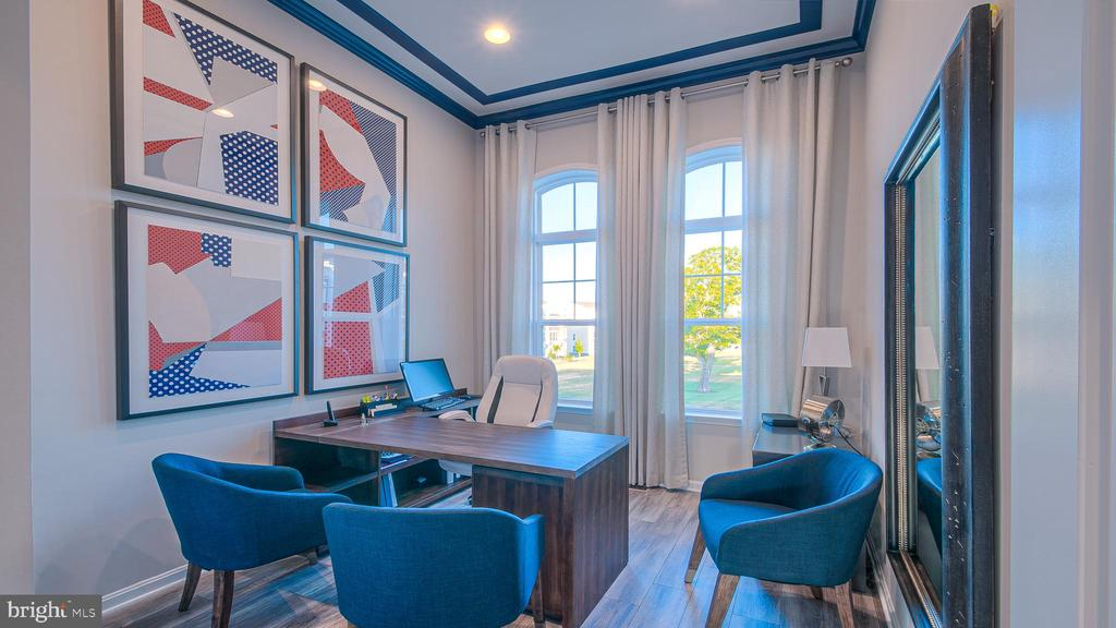 Bedroom 2/Home Office with 12' ceiling - 937 HOLDEN ROAD RD, FREDERICK