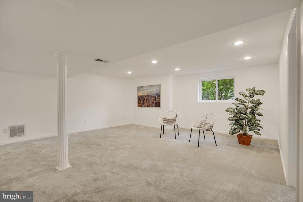 Recessed  lights and brand new carpeting - 5905 DEWEY DR, ALEXANDRIA