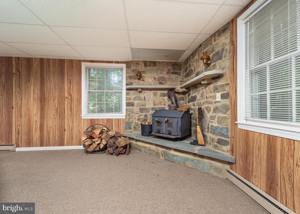 Basement Fire Place - 16201 DUSTIN CT, BURTONSVILLE